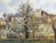 Camille_Pissarro_-_Orchard_with_Flowering_Trees,_Spring,_Pontoise