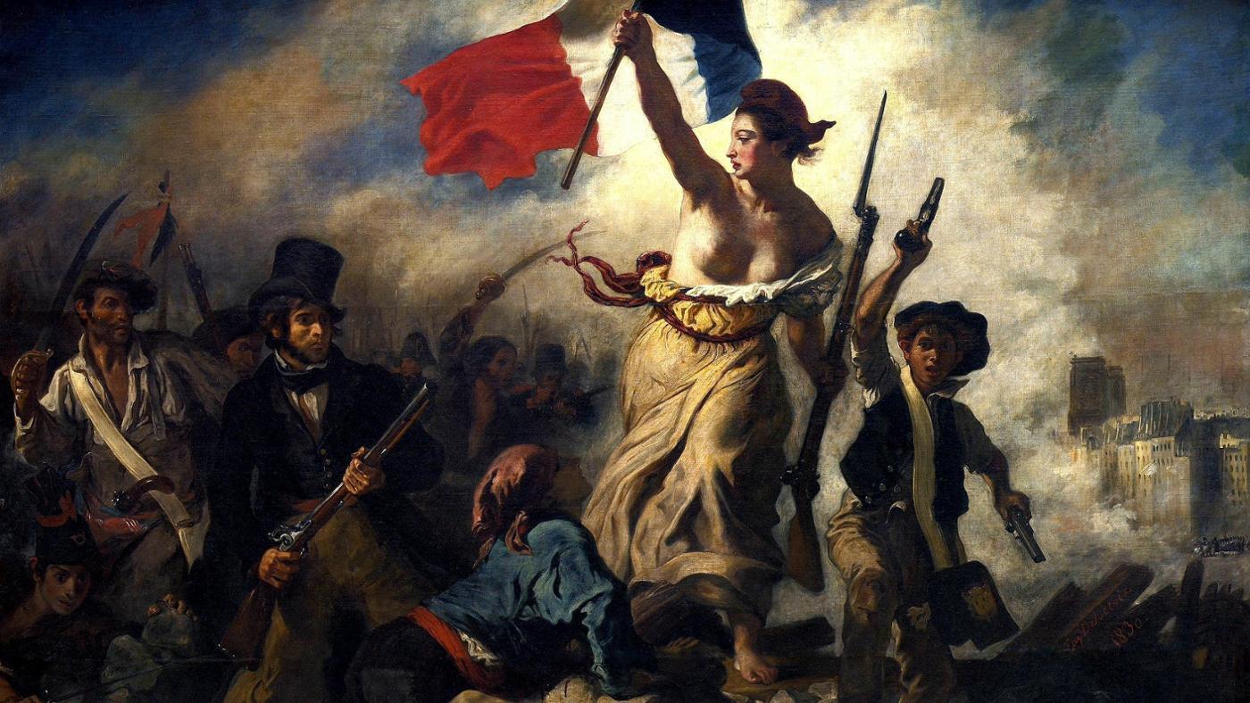 libertad guiando al pueblo