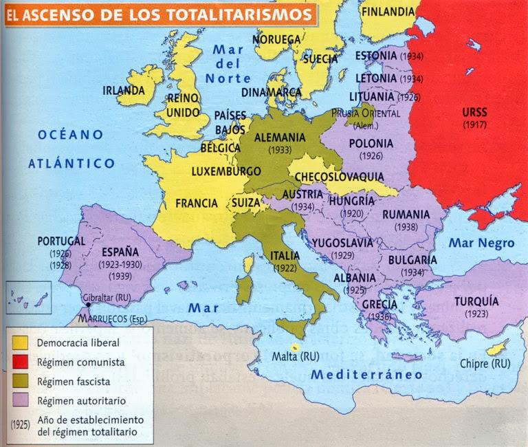 Resultado de imagen de DEMOCRACIAS EUROPEAS ENTREGUERRAS